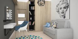 projekt małej sypialni