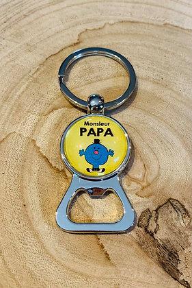 """Porte-clés décapsuleur """"Monsieur Papa"""""""