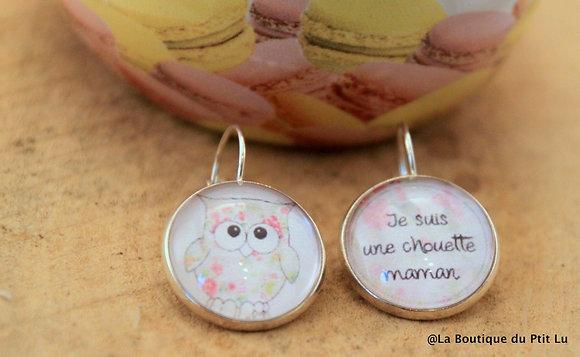 """Boucles d'oreilles """"Chouette maman"""""""