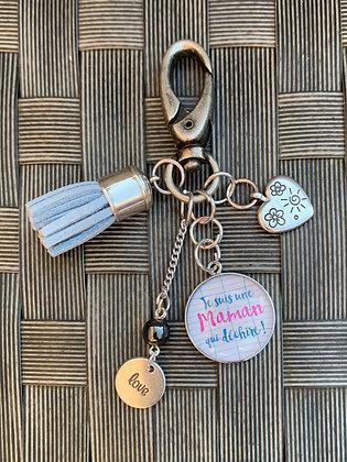 """Porte-clés  """"Je suis une Maman qui déchire"""""""