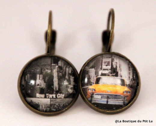 "Boucles d'oreilles ""New York"""