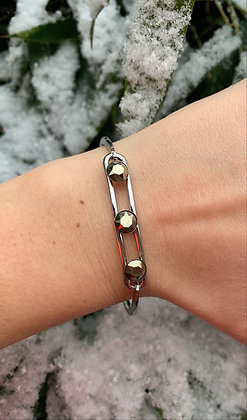 Bracelet triple Swarovski argenté