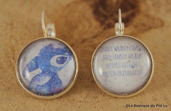 """Boucles d'oreilles """"Lilo et Stitch"""""""