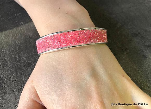 """Bracelet rigide """"Swarovski"""" corail"""
