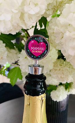 """Bouchon à champagne ou à vin """"Plus belle Maman du Monde"""""""