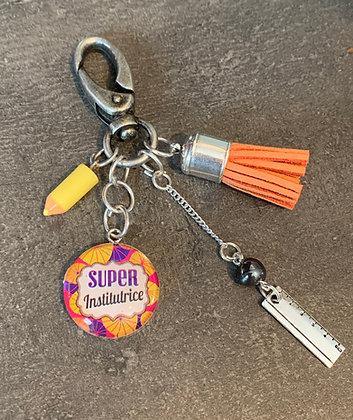 """Porte-clés """"Super institutrice"""""""