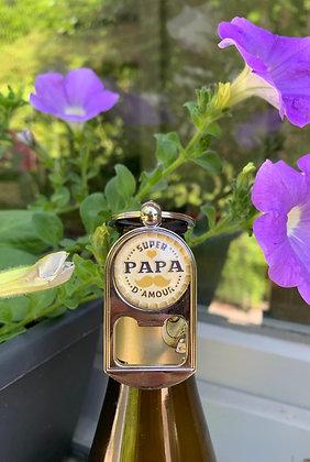 """Porte-clés décapsuleur """"Super Papa d'amour"""""""