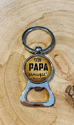"""Porte-clés décapsuleur """"Un Papa Unique"""""""