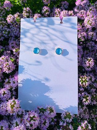 Modèle Léa argenté & bleu ciel