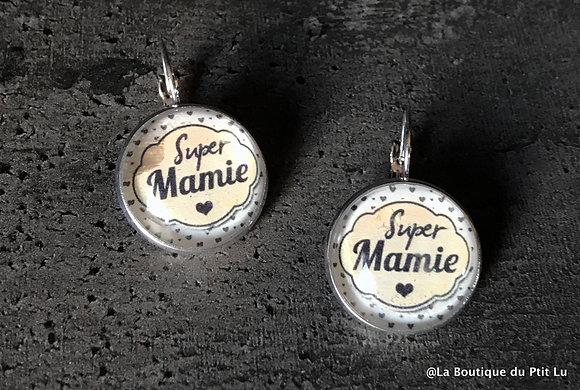 """Boucles d'oreilles """"Super Mamie"""""""