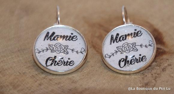 """Boucles d'oreilles """"Mamie chérie"""""""