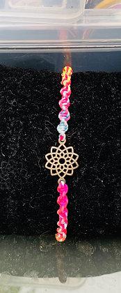 Bracelet macramé lotus