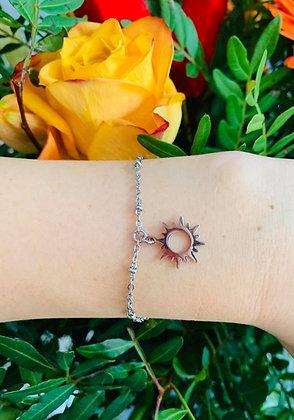 "Bracelet ""Sun"" en acier inoxydable"