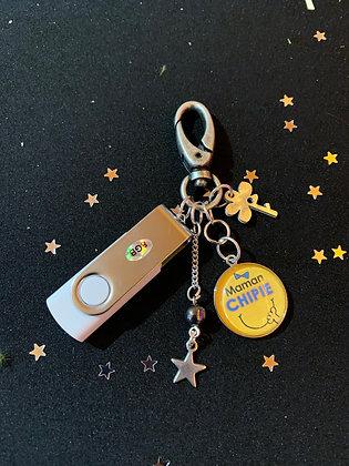 """Porte-clés USB """"Maman Chipie"""""""