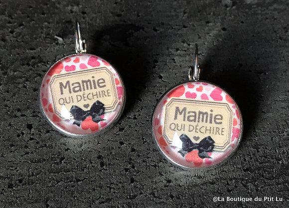 """Boucles d'oreilles """"Mamie qui déchire"""""""