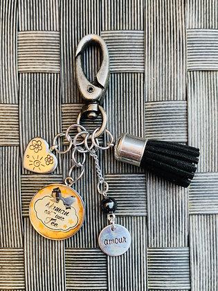 """Porte-clés  """"Maman est une fée"""""""