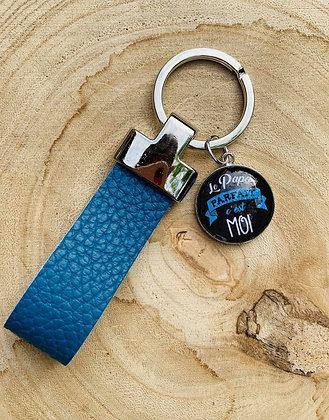 """Porte-clés cuir """"Le Papa parfait c'est Moi"""""""