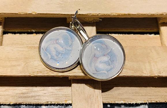 Boucles d'oreilles cabochons 20mm