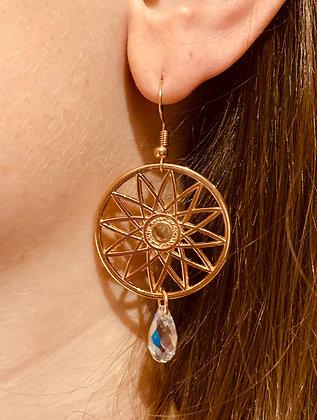 Modèle Azteca rose doré et transparent