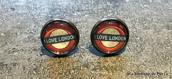 "Perceuses 14mm ""I love London"" vieil or"