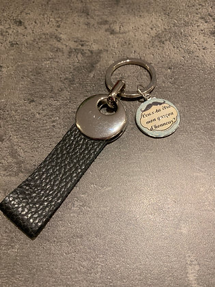 "Porte-clés cuir ""garçon d'honneur"""