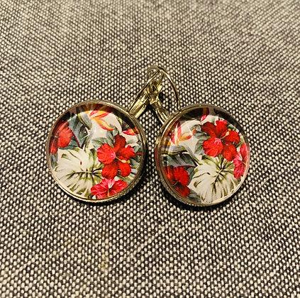 Boucles d'Oreilles Hibiscus
