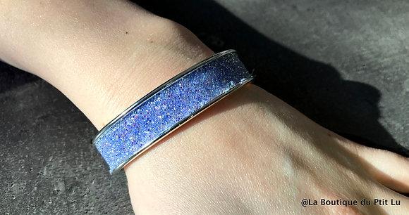 "Bracelet ""Swarovski"" bleu lilas"