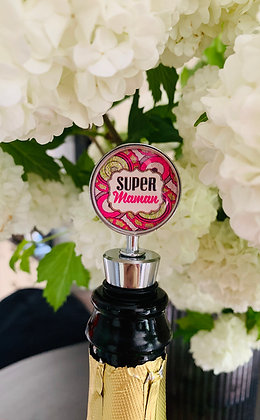 """Coffret cadeau champagne & bouchon """"Super Maman"""""""