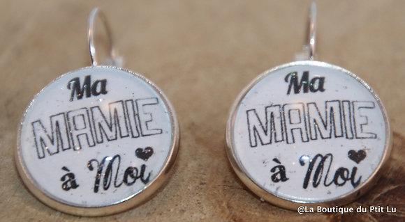 """Boucles d'oreilles """"Ma Mamie à moi"""""""