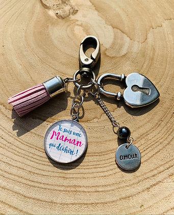 """Porte-clés/Bijoux de sac  """"Maman qui déchire"""""""