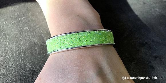 """Bracelet """"Swarovski"""" vert pomme"""