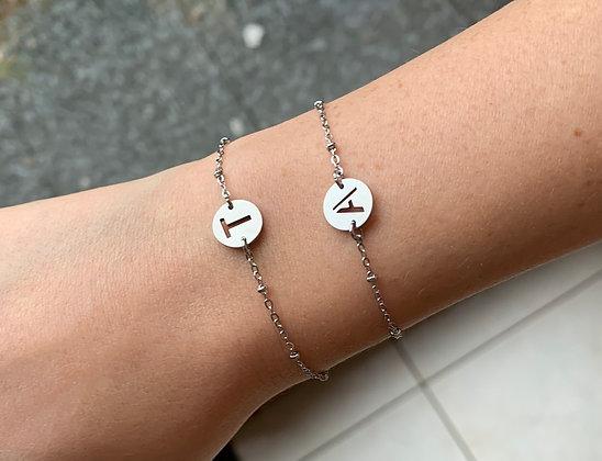 """Bracelet """"lettre"""" en acier inoxydable"""