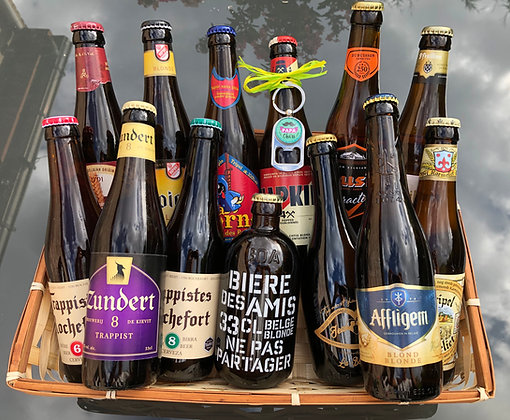 Coffret cadeau bières XL & porte-clés décapsuleur à personnaliser