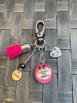 """Porte-clés  """"Maman qui déchire"""""""