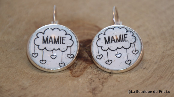 """Boucles d'oreilles """"Mamie"""""""