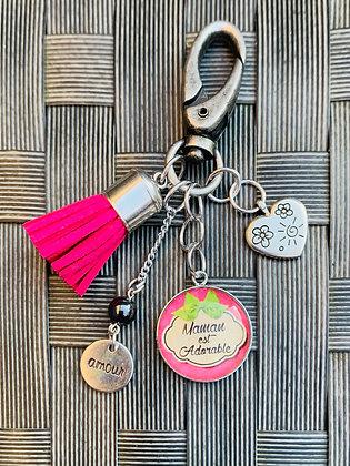 """Porte-clés  """"Maman est adorable"""""""
