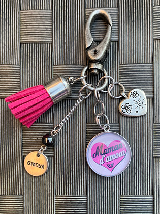 """Porte-clés  """"Maman d'amour"""""""