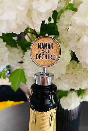 """Coffret Champagne & Bouchon de champagne à personnaliser """"Spécial Maman"""""""