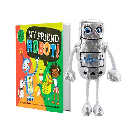 My Friend Robot with finger puppet