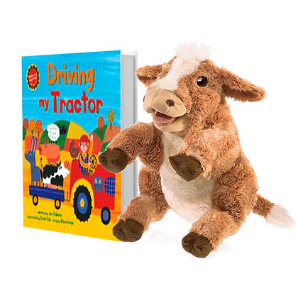 Driving My Tractor with Full-Body Cow Puppet