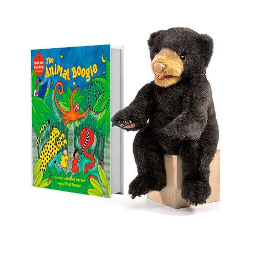 Animal Boogie with Full-Body Black Bear Puppet