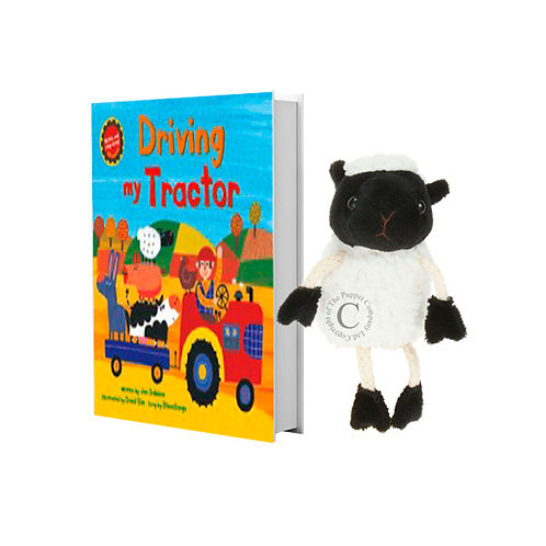 Driving My Tractor with Lamb Finger Puppet