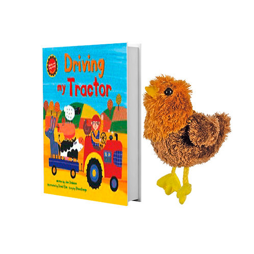Driving My Tractor with Chicken Finger Puppet