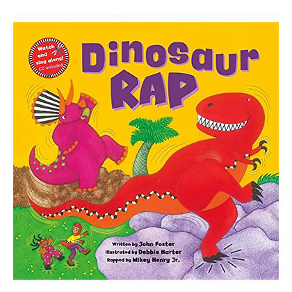 Dinosaur Rap with Full-Set of Finger Puppets