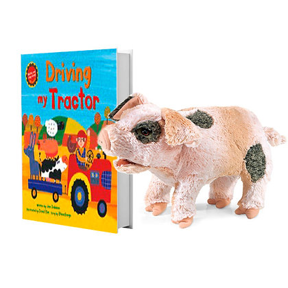 Driving My Tractor with Full-Body Pig Puppet
