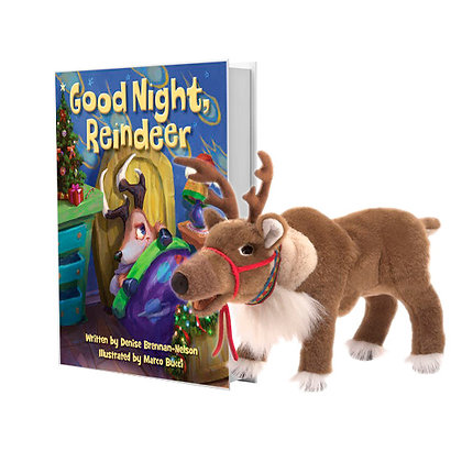 Good Night Reindeer with Reindeer Puppet