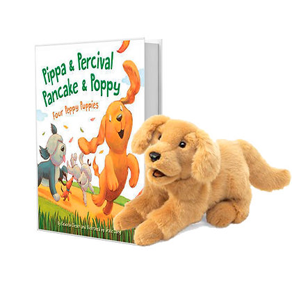 Pippa & Percival, Pancake & Poppy with Golden Retriever Puppet