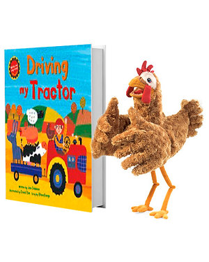 Driving My Tractor with Full-Body Chicken Puppet