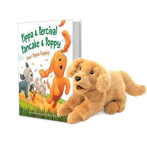 Pippa & Percival, Pancake & Poppy with Golden Retriever Puppet