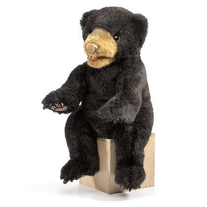 Full-Body Black Bear Puppet